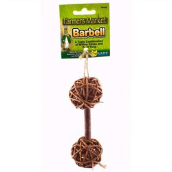 Ware Barbell Small Pet Chew Toy