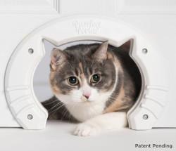 Built In Cat Door for Medium & Large Cats