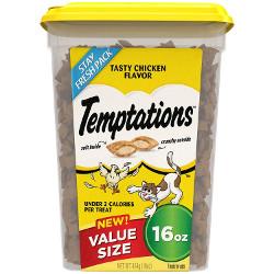 TEMPTATIONS Classic Treats for Cats 16-ounce