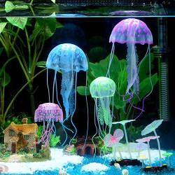 Uniclife Glowing Jellyfish Ornament for Aquarium
